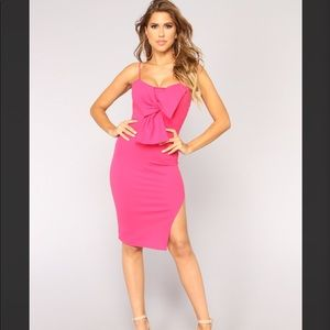 ❤️💕Fashion Nova Rosalyn Dress Hot Pink NWT Small